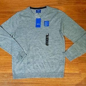 NWT APT. 9 Merino V-Neck Sweater - Medium